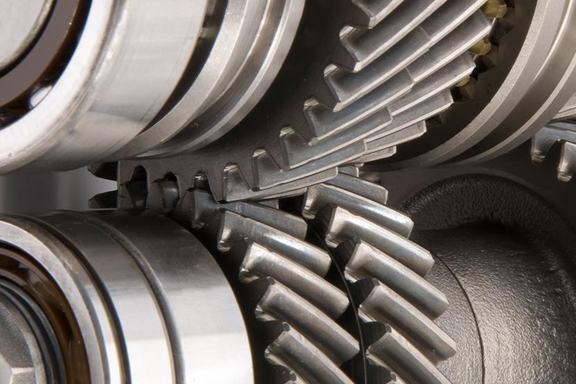 closeup of transmission gears