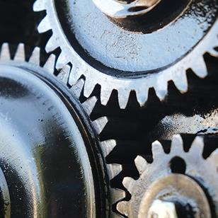 closeup of car alternator