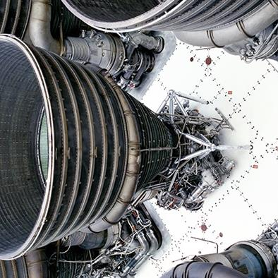 view of modern rocket engine